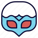 face, hide, mask, masquerade, party icon