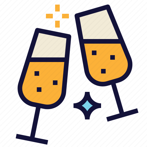 Celebrate, celebration, cheer, party, sparkling, wine icon - Download on Iconfinder