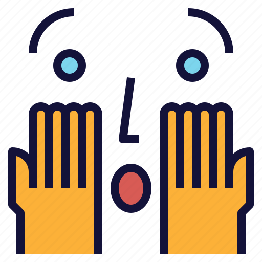 Excited, face, hands, surprised, wow icon - Download on Iconfinder