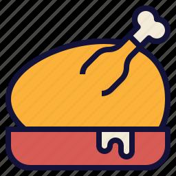 chicken, food, roasted, thanksgiving, turkey icon