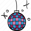 celebration, damce, floor, mirrorball, party icon