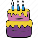 birthday, cake, celebration, food, party, present icon
