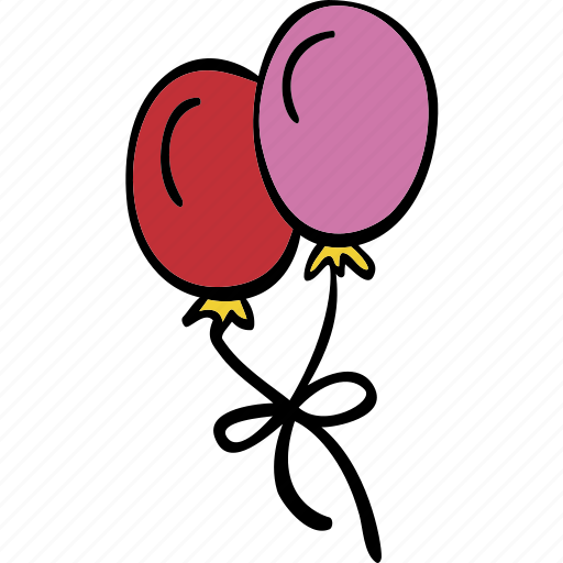 balloons, celebration, decoration, party icon