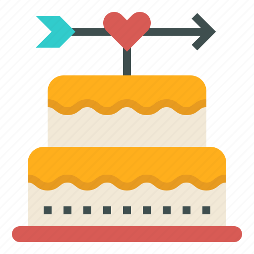 birthday, cake, celebration, love, valentine, wedding icon