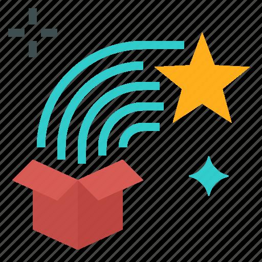 box, gift, present, star, surprise icon