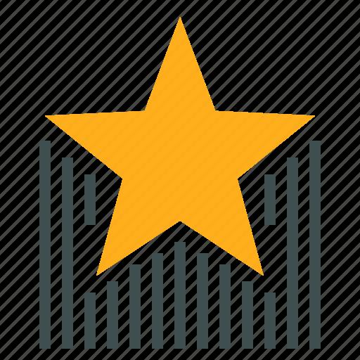 award, celebration, raising, reward, star icon
