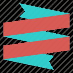 award, badge, banner, decoration, fold, ribbon icon
