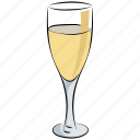 alcohol, drink, glass, beverage, wine glass, champagne icon