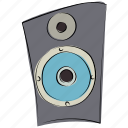 music, sound bass, speakers, stereo, woofer icon