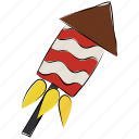carnival, cracker, fire, fireworks, fun, rocket fire icon