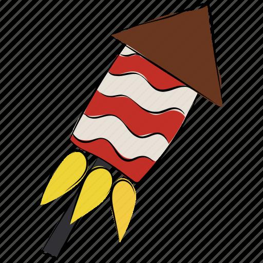 carnival, cracker, fire, fireworks, fun, rocket fire icon