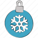 christmas, christmas bauble, decoration, snowflake, xmas icon