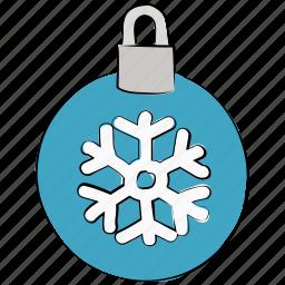 christmas, christmas bauble, decoration, snowflake, xmas icon