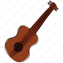 bass, frets, guitar, melody, music instrument, ukulele icon