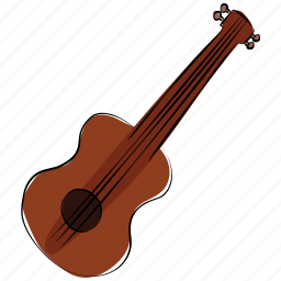 bass, frets, guitar, melody, music instrument, ukulele icon