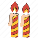 burn, candles, candles burning, commemorate, decoration, event, flame icon