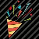 firework cone, firework, new year, carnival, celebration icon