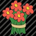 flora, beauty, bouquet, spring, arrangement, flower, flowers, bouquet flower icon