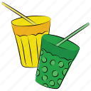 beverage, cold drink, soft drinks, straw icon