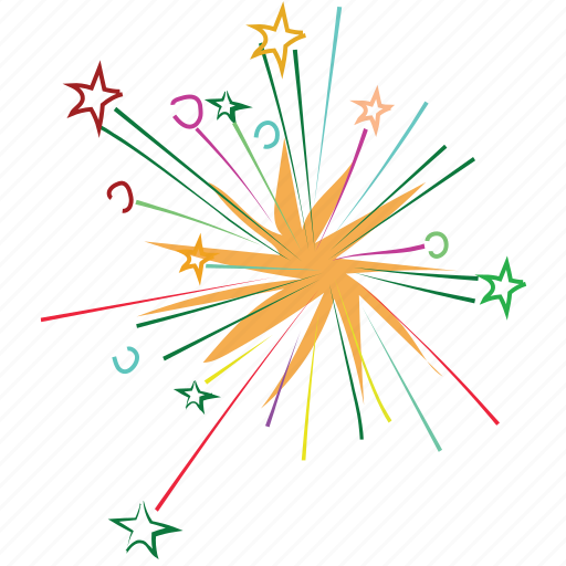 bright, celebrate, event, explosion, firework, lights icon