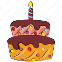 birthday cake, cake and candle, candles, christmas cake, dessert, sweet icon