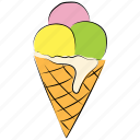 cone, cone cream, cone ice cream, ice cream, poke ice cream icon