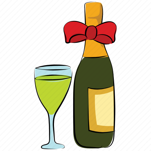 alcohol, alcoholic drink, beer bottle, bottle, glass, wine, wine bottle icon