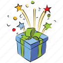 anniversary gift, birthday, box, christmas gift, gift, present icon