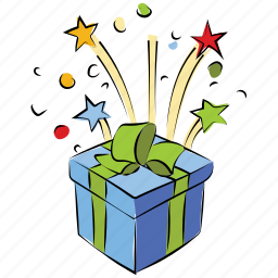anniversary gift, birthday, box, christmas gift, gift, present icon