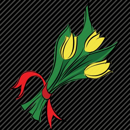 bouquet, decoration, floral, flower, tulip icon