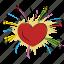 enjoyment, firework, fun, happiness, heart firework, spark icon