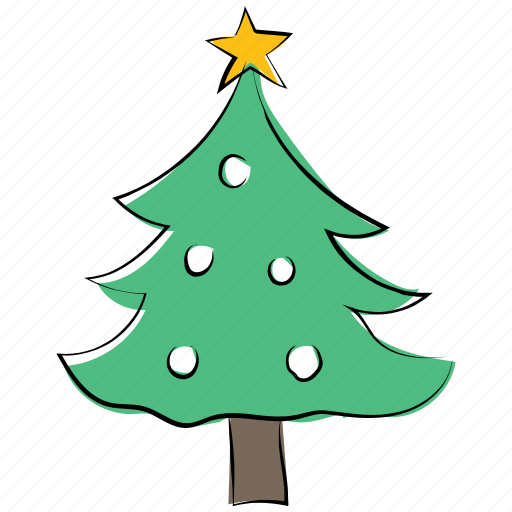 christmas tree, decorated, decoration, fir, fir tree, pine, xmas icon