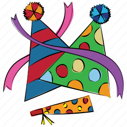 birthday, caps, cone hat, decoration, hats, new year icon