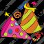 birthday, caps, cone hat, decoration, hats, new year icon