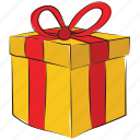 box with ribbon, present box, gift box, present, wrapped gift icon