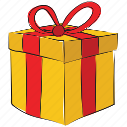box with ribbon, gift box, present, present box, wrapped gift icon