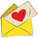 card, envelope, heart, letter, love, valentine, valentine day icon