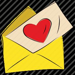 card, envelope, heart, letter, love, valentine, valentine day icon