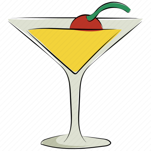alcohol, appetizer drink, cocktail, drink, glass, pina colada, summer drink icon