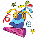 birthday, caps, celebration, christmas, hat, new year icon
