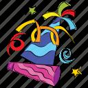 new year, caps, birthday, hat, christmas, celebration icon