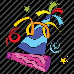 birthday, caps, celebration, christmas, hat, new year icon