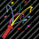 ceremony, cracker, firecracker, greeting, decoration, confetti, fun icon