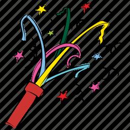 ceremony, confetti, cracker, decoration, firecracker, fun, greeting icon