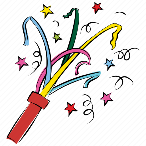 ceremony, confetti, cracker, decoration, firecracker, fun, greeting icon