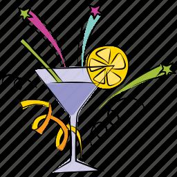 beverage, cocktail, lemonade, margarita, mocktail, party drink icon