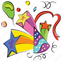 birthday cap, birthday cone, celebration, hat, party icon