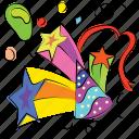 birthday cone, birthday cap, hat, party, celebration icon