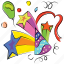 birthday cap, birthday cone, celebration, hat, party icon