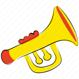 horn, music, music equipment, sound, trombone, trumpet, tuba icon